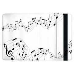 Music Note Song Black White Ipad Air Flip by Alisyart