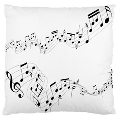 Music Note Song Black White Standard Flano Cushion Case (two Sides)