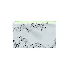 Music Note Song Black White Cosmetic Bag (xs) by Alisyart