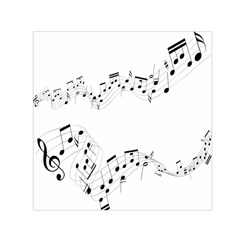 Music Note Song Black White Small Satin Scarf (square)