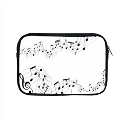 Music Note Song Black White Apple Macbook Pro 15  Zipper Case