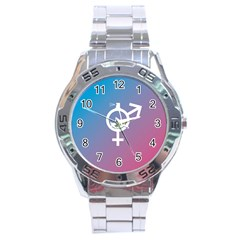 Perfume Graphic Man Women Purple Pink Sign Spray Stainless Steel Analogue Watch by Alisyart