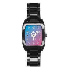 Perfume Graphic Man Women Purple Pink Sign Spray Stainless Steel Barrel Watch by Alisyart