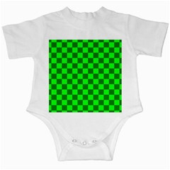 Plaid Flag Green Infant Creepers by Alisyart
