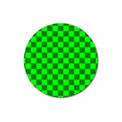 Plaid Flag Green Magnet 3  (round) by Alisyart