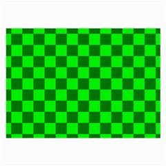 Plaid Flag Green Large Glasses Cloth (2 Side) by Alisyart
