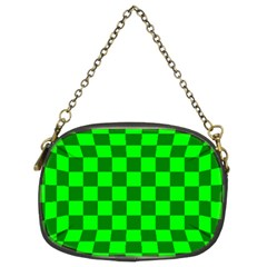 Plaid Flag Green Chain Purses (two Sides)  by Alisyart