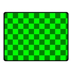Plaid Flag Green Fleece Blanket (small) by Alisyart
