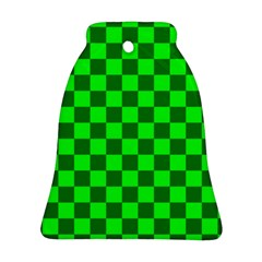 Plaid Flag Green Bell Ornament (two Sides)