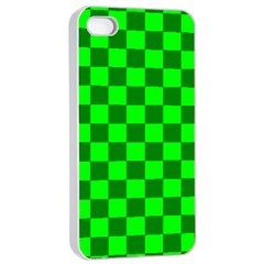 Plaid Flag Green Apple Iphone 4/4s Seamless Case (white) by Alisyart