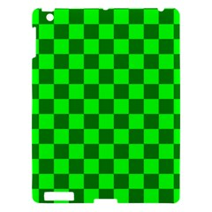 Plaid Flag Green Apple Ipad 3/4 Hardshell Case by Alisyart