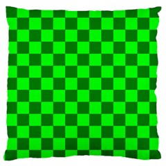 Plaid Flag Green Large Cushion Case (two Sides) by Alisyart