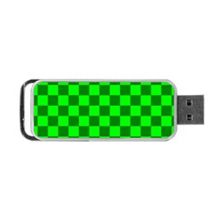 Plaid Flag Green Portable Usb Flash (two Sides)