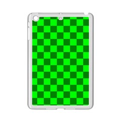 Plaid Flag Green Ipad Mini 2 Enamel Coated Cases
