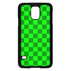 Plaid Flag Green Samsung Galaxy S5 Case (black) by Alisyart