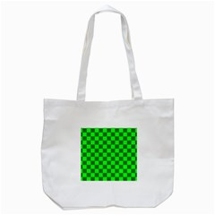 Plaid Flag Green Tote Bag (white) by Alisyart