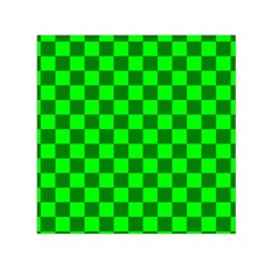 Plaid Flag Green Small Satin Scarf (square) by Alisyart