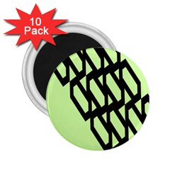Polygon Abstract Shape Black Green 2 25  Magnets (10 Pack)  by Alisyart