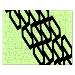 Polygon Abstract Shape Black Green Rectangular Jigsaw Puzzl by Alisyart