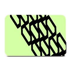 Polygon Abstract Shape Black Green Plate Mats by Alisyart