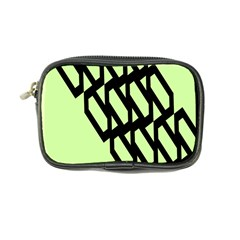 Polygon Abstract Shape Black Green Coin Purse