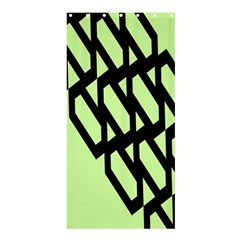 Polygon Abstract Shape Black Green Shower Curtain 36  X 72  (stall)