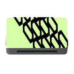 Polygon Abstract Shape Black Green Memory Card Reader With Cf by Alisyart