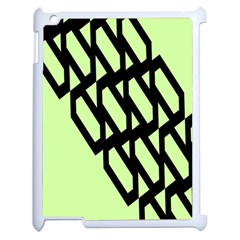 Polygon Abstract Shape Black Green Apple Ipad 2 Case (white)