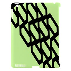 Polygon Abstract Shape Black Green Apple Ipad 3/4 Hardshell Case (compatible With Smart Cover) by Alisyart