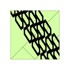 Polygon Abstract Shape Black Green Acrylic Tangram Puzzle (4  X 4 )
