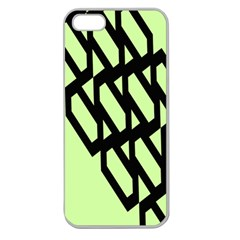 Polygon Abstract Shape Black Green Apple Seamless Iphone 5 Case (clear) by Alisyart