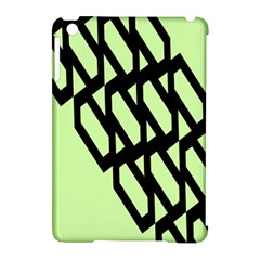 Polygon Abstract Shape Black Green Apple Ipad Mini Hardshell Case (compatible With Smart Cover)