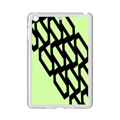 Polygon Abstract Shape Black Green Ipad Mini 2 Enamel Coated Cases