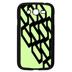 Polygon Abstract Shape Black Green Samsung Galaxy Grand Duos I9082 Case (black)