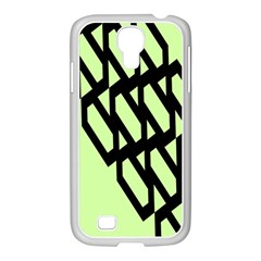 Polygon Abstract Shape Black Green Samsung Galaxy S4 I9500/ I9505 Case (white)