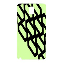 Polygon Abstract Shape Black Green Samsung Galaxy Note 3 N9005 Hardshell Back Case by Alisyart