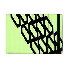 Polygon Abstract Shape Black Green Ipad Mini 2 Flip Cases by Alisyart