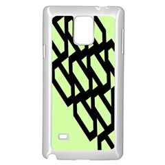 Polygon Abstract Shape Black Green Samsung Galaxy Note 4 Case (white) by Alisyart