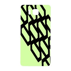 Polygon Abstract Shape Black Green Samsung Galaxy Alpha Hardshell Back Case