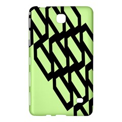 Polygon Abstract Shape Black Green Samsung Galaxy Tab 4 (7 ) Hardshell Case  by Alisyart