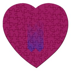 Purple Blue Jigsaw Puzzle (heart) by Alisyart