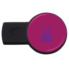Purple Blue Usb Flash Drive Round (4 Gb) by Alisyart