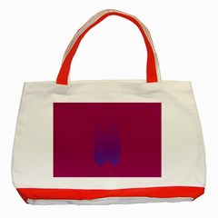 Purple Blue Classic Tote Bag (red) by Alisyart