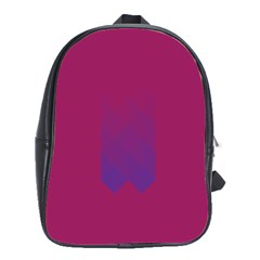 Purple Blue School Bags(large)  by Alisyart