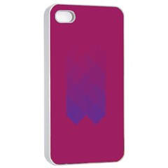 Purple Blue Apple Iphone 4/4s Seamless Case (white) by Alisyart