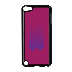 Purple Blue Apple Ipod Touch 5 Case (black)