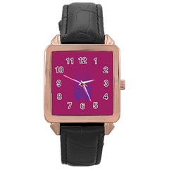 Purple Blue Rose Gold Leather Watch  by Alisyart