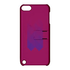 Purple Blue Apple Ipod Touch 5 Hardshell Case With Stand by Alisyart
