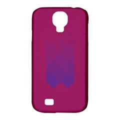 Purple Blue Samsung Galaxy S4 Classic Hardshell Case (pc+silicone) by Alisyart