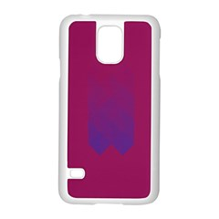 Purple Blue Samsung Galaxy S5 Case (white)